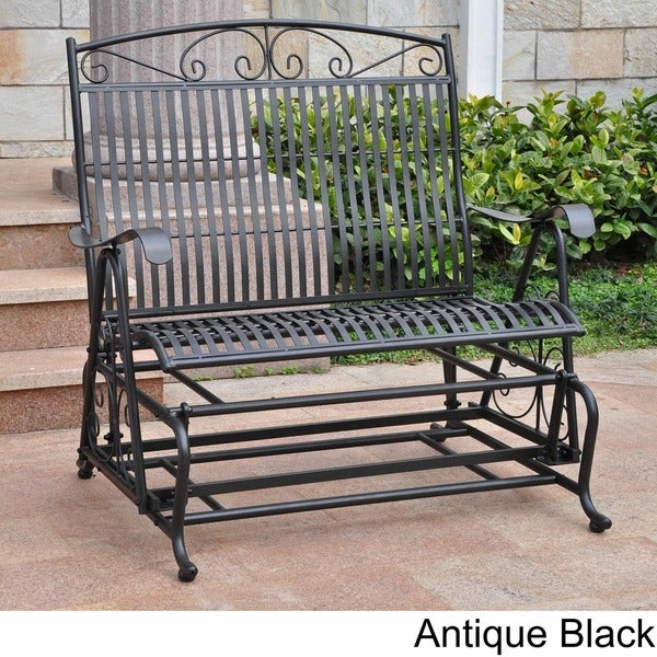 International Caravan Mandalay Iron Double Glider Bench Seat 10876359 Shopping