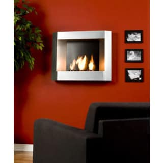 Contemporary Wall Mount Gel Fuel Fireplace