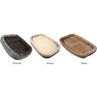 Machine-washable 48-inch Polyester/Cotton Crate Pet Bed Mat