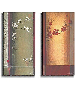 Don Li-Leger 'Blossom Tapestry' 2-piece Canvas Set