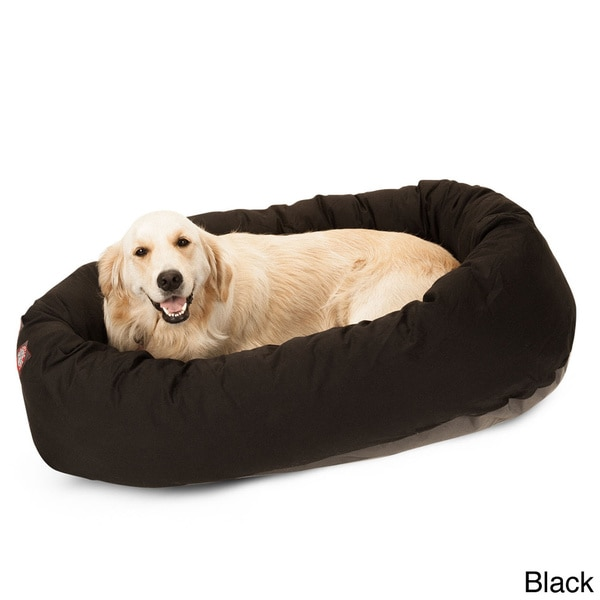 Large 40-Inch Round Padded-Edge Dog Bed