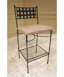 Iron/Upholstered 29-inch Barstool (Set of 2)