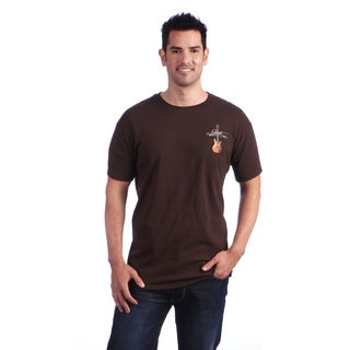 Just Another Day Guitars Brown Screen-print 100-percent Cotton T-shirt
