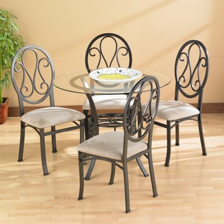 Upton Home Lucianna Dining Table Set with 4 Chairs