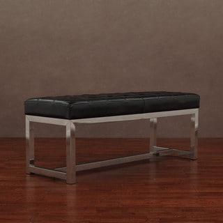 Liberty Black Leather Bench