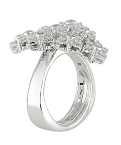 Miadora 18k White Gold 1-1/3ct Diamond Ring