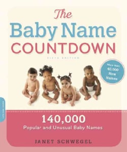 The Baby Name Countdown: 140,000 Popular and Unusual Baby Names (Paperback)