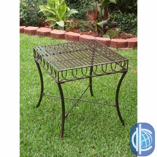 International Caravan Sun Ray Iron Side Table