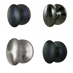 Egg Shaped Passage Door Knob Pair (Set of 2)
