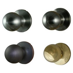 Round Passage Door Knob Pair