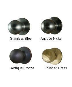 Round One-sided Dummy Door Knob Pair