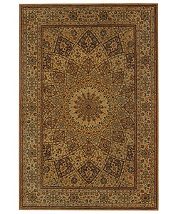 Handmade Persian Court Timeless Ivory Wool and Silk Rug (6' x 9')