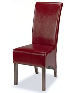 Burgundy Leatherette Tuscany Dining Chairs (Set of 2)