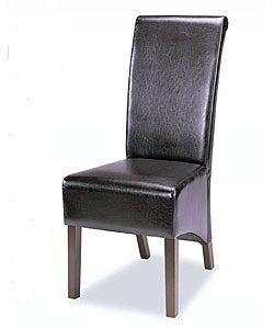 Chocolate Faux Leather Tuscany Dining Chairs (Set of 2)