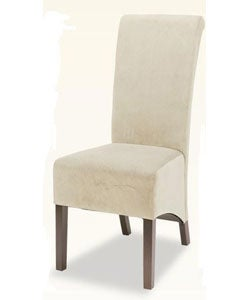 Tan Microfiber Tuscany Dining Chairs (Set of 2)