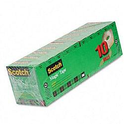 3M 3/4x1000-inch Magic Tape Rolls (Pack of 10)