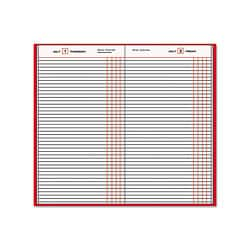 At-A-Glance Standard Diary Daily Journal with Red Vinyl Cover