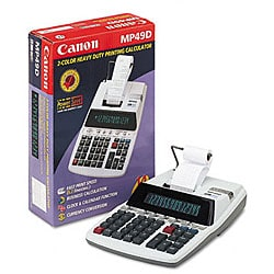Canon MP49D 2-Color Ribbon Printing Calculator