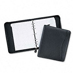 Day-Timer Organizer Starter Set Verona Black Leather Binder