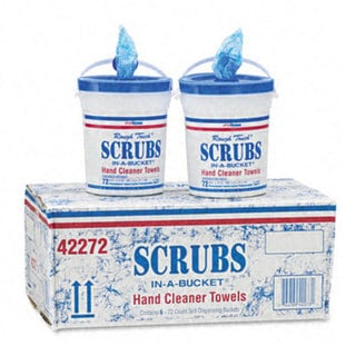 Scrubs Premoistened 72-count Hand Cleaner Towels (Case of 6)