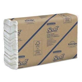 Scott Embossed C-fold Towels - 200/ Pack (12 Packs per Carton)