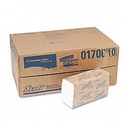 Scott Embossed Single-Fold C Towels - 250/Pack (16 Packs/Carton)