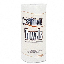 Perforated 2-ply Paper Towels - 85 Towels/ Roll (30 Rolls/ Carton)