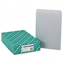 Executive Gray Clasp Envelopes - 12 x 15-1/2 (100/Box)