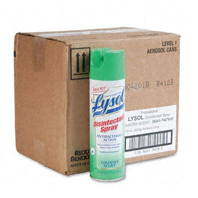 Professional Lysol II Country-Scent Disinfectant Spray - 12/Carton