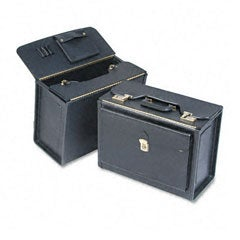 Black Classic Tufide Partitioned Catalog Case with Combination Locks