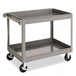 Tennsco Metal 2-shelf Cart