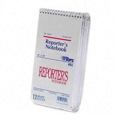 Reporter S Spiral Gregg Ruled Notebook