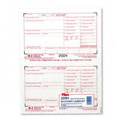 W-2 Tax Forms for Laser Printers - 50 Sets per Pack