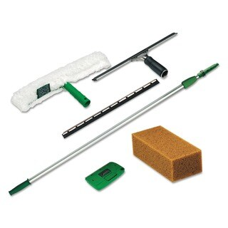 Pro Janitorial Window Cleaning Kit with Eight-foot Extension Pole