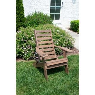 Folding Adirondack Chair - Plantation Ladderback Style - Natural Wood Colors