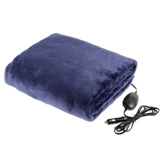 Electric Car Blanket-Outdoor Heated 12V Travel Throw-Fleece by Stalwart