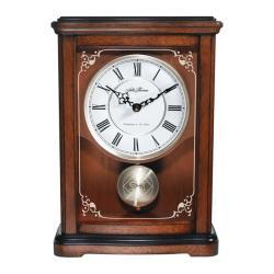 Seth Thomas Plymouth Brown Wood Pendulum Mantle Clock