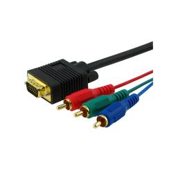 Eforcity Premium VGA to RGB M/M 6-foot Component Cable