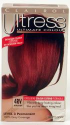 Clairol Ultress #4RV Burgundy Hair Color (Pack of 4)