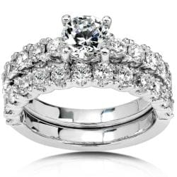 18k Gold 2 3/4ct TDW Diamond Bridal Ring Set (G-J, SI)
