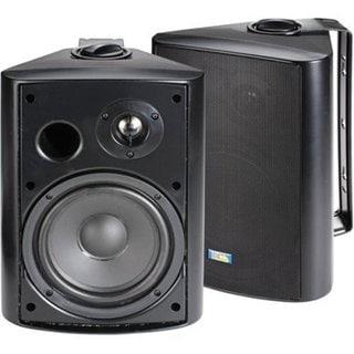 Black 6.5 120-Watt 2-Way Outdoor Patio Speakers 3230433