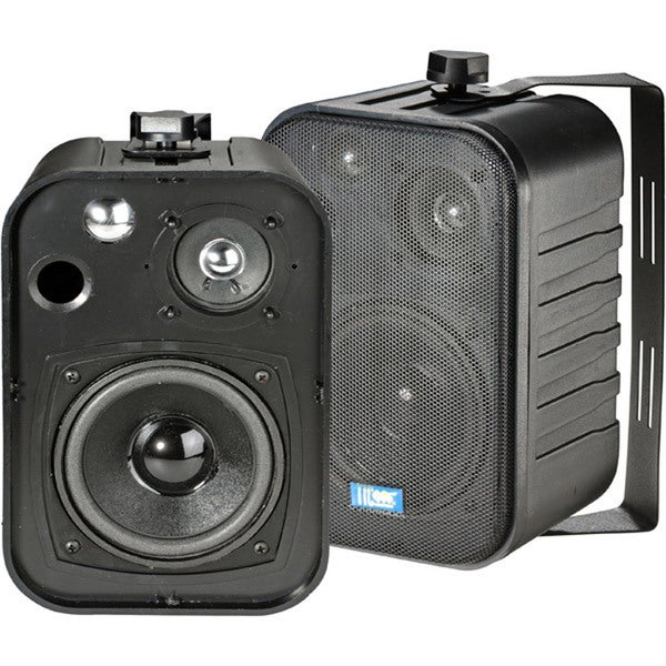 5 40-Watt 3-Way Outdoor Patio Speakers - Black