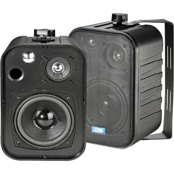 5 40-Watt 3-Way Outdoor Patio Speakers - Black