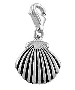 Fremada Sterling Silver Shell Charm