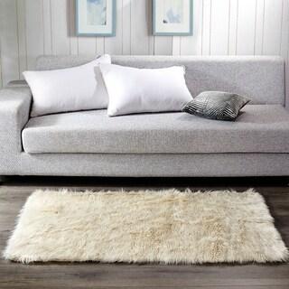 Serenta Shaggy Silky Smooth Faux-Fur Area Rug Carpet Floor Mat - 3' x 5'