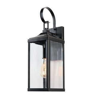 1 Light Outdoor Wall Lantern in Imperial Black