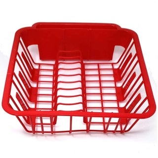 BPA Free Small Dish Drainer Kitchen Sink Drying Rack with Cup Spoon Holders