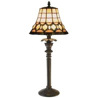 Tiffany-style Jeweled Table Lamp