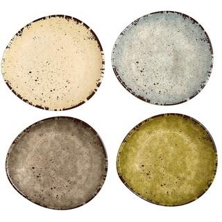 Melange 6-Piece Melamine Dinner Plate Set (Egg Collection) Shatter-Proof and Chip-Resistant Melamine Dinner Plates Multicolor