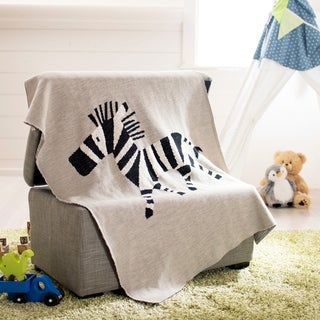 "Safavieh Baby Collection Zazu Throw - Grey / Black - 32"" x 40"""